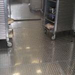 Tread Plate Floors in Walk-in