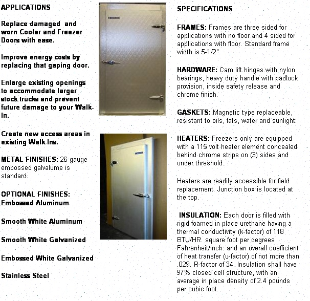 RETROFIT DOORS u0026 FRAMES. 30u2033x 72u2033 up to 60u2033x 96u2033  sc 1 st  Louisville Cooler & RETROFIT DOORS - Louisville Cooler pezcame.com