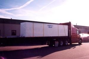 Skidded Panels For Flat Bed Shipment